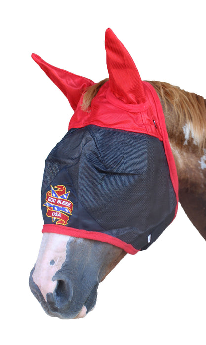 Equine Horse Fly Mask Summer Spring Airflow Mesh UV Mosquitoes  732114
