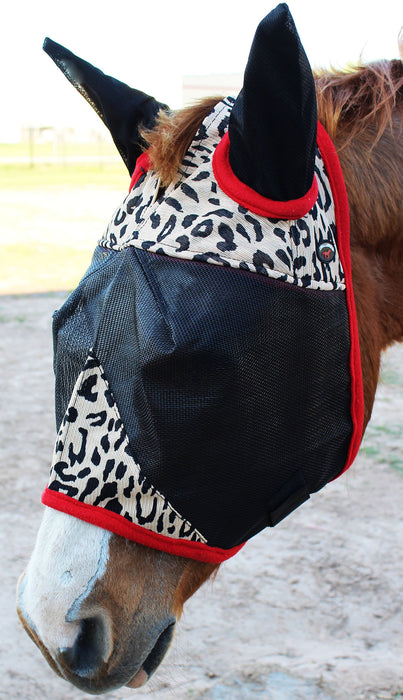 Equine Horse Fly Mask Summer Spring Airflow Mesh UV Mosquitoes  73216VAR