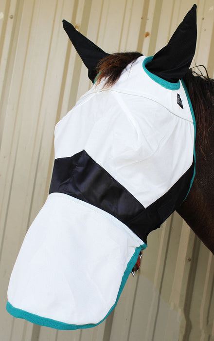 Equine Horse Fly Mask Summer Spring Airflow Mesh UV Mosquitoes  73273