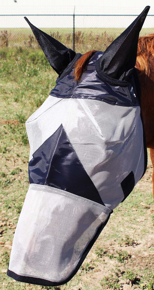 Equine Horse Fly Mask Summer Spring Airflow Mesh UV Mosquitoes  73286N