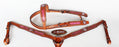 Horse Western Riding Leather Bridle Headstall Breast Collar Tack Pink Gator 7696