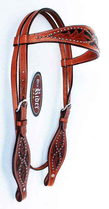 Horse Saddle Tack Bridle Western Leather Headstall Breast Collar 78137B