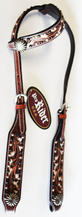 Horse Show Saddle Tack Rodeo Bridle Western Leather Headstall  78155HA