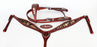 Horse Show Saddle Tack Rodeo Bridle Western Leather Headstall Breast Collar 7875