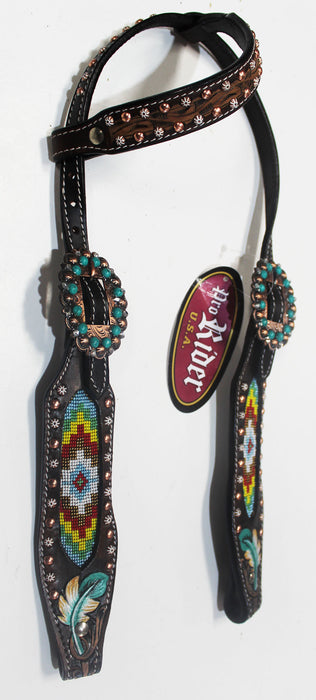 Horse Show Bridle Western Leather Headstall  79100HA