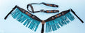 Horse Show Bridle Western Leather Headstall Breast Collar Turquoise Rodeo 79106A
