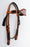 Horse Show Bridle Western Leather Headstall  7927