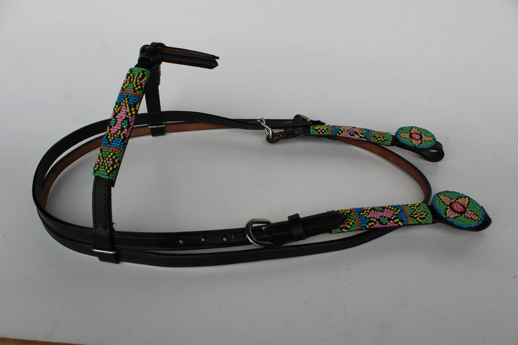 Horse Bridle Western Leather Futurity Headstall 7946H