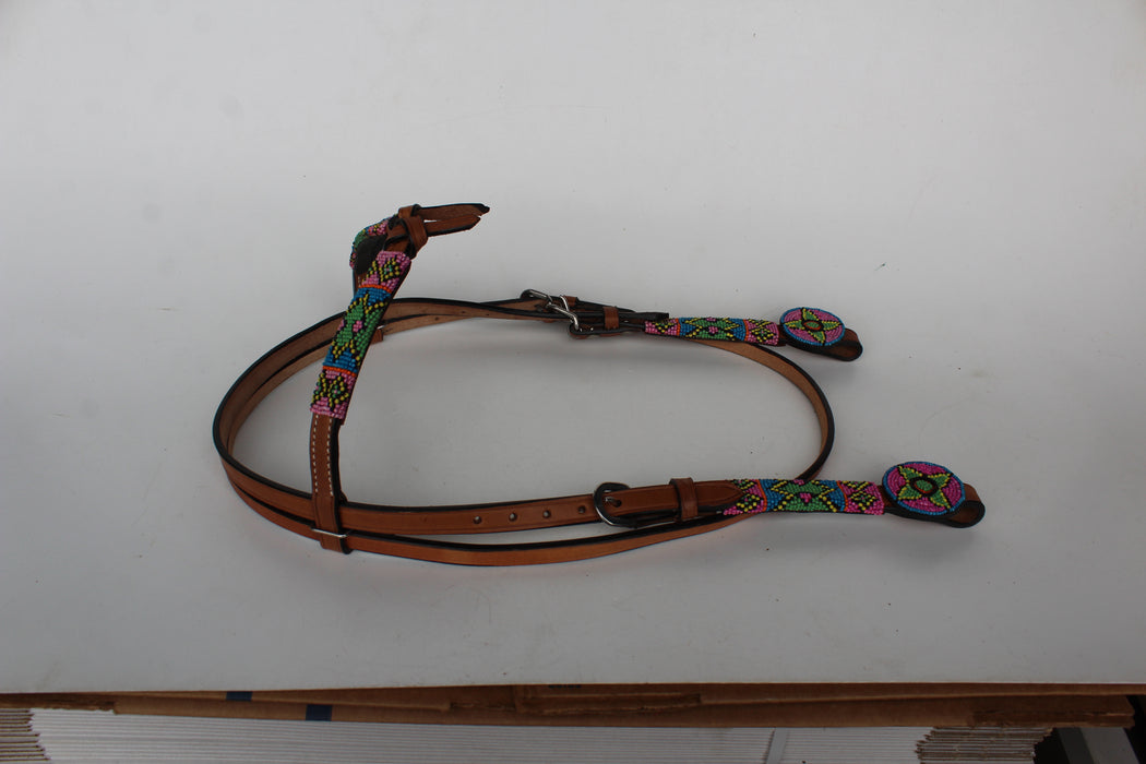 Horse Show Bridle Western Leather Headstall  7950HB