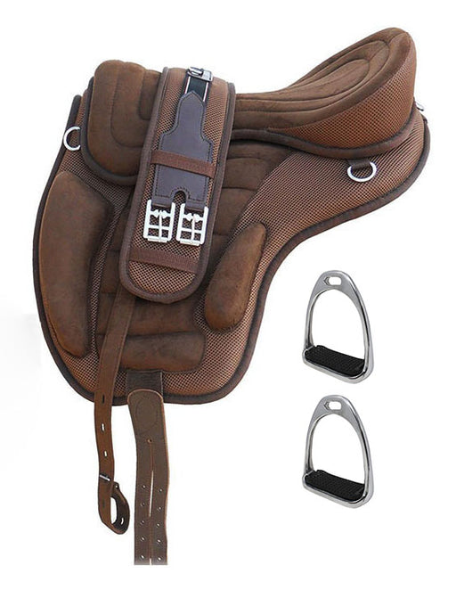 English Horse Professional Equine Synthetic Treeless Saddle Stirrups 80201BR