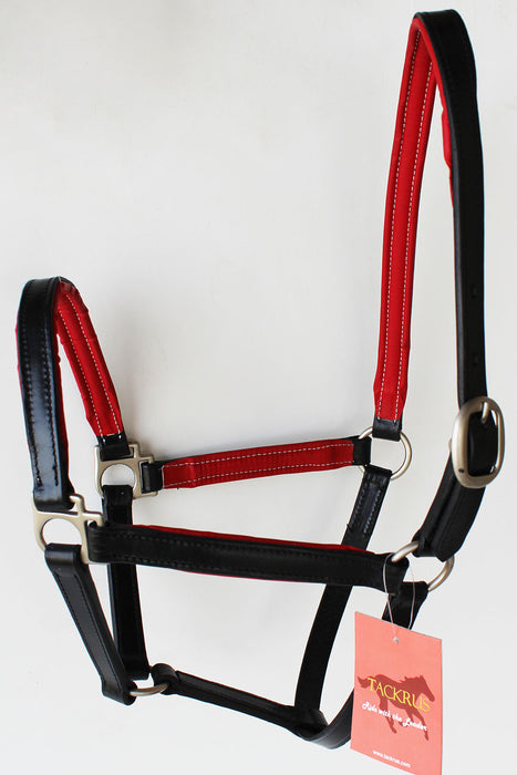 Horse English Padded Leather Western  Show Halter Full 803209F