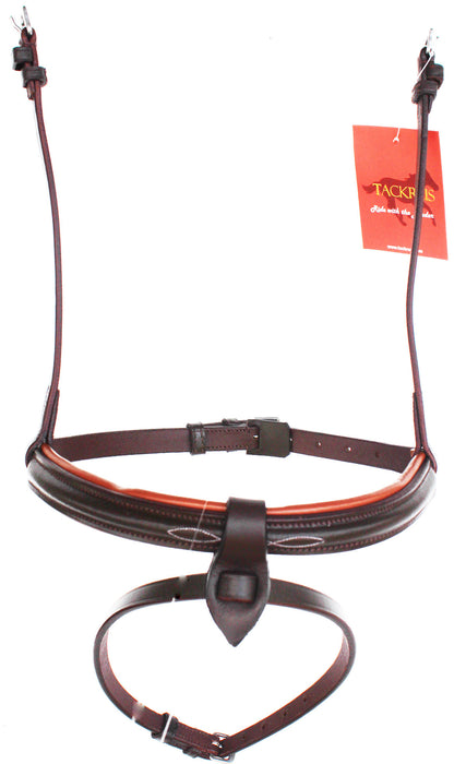 Horse English Padded Leather Flash  Cavesson Noseband Brown Full 803446F