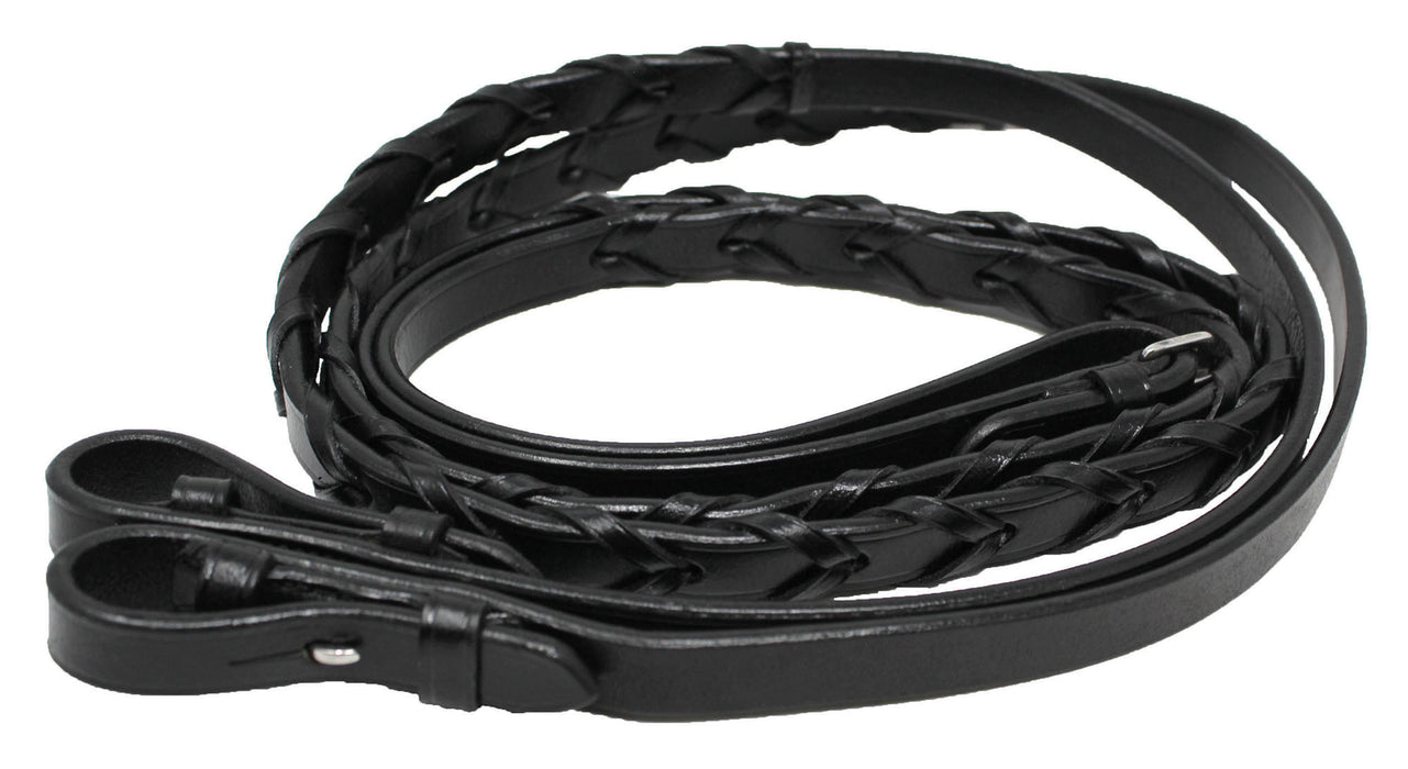 "54"" Full Horse English Laced Leather Reins 805LR04"