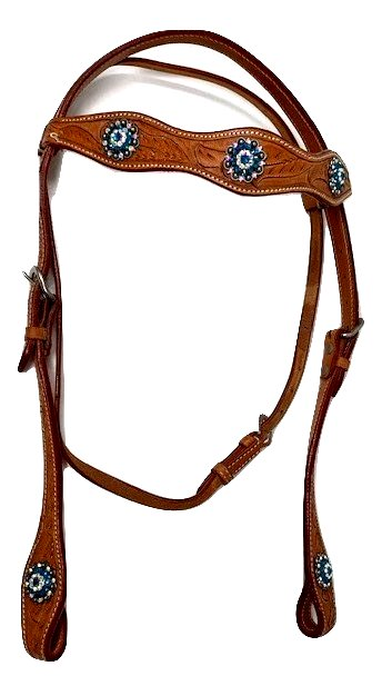 CHALLENGER Horse Saddle Tack Bridle Western Leather Headstall 78RT08HB
