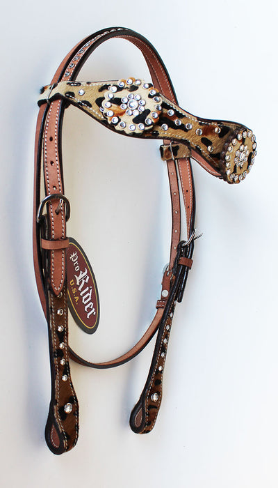 Horse Show Tack Bridle Western Leather Headstall  8528HB