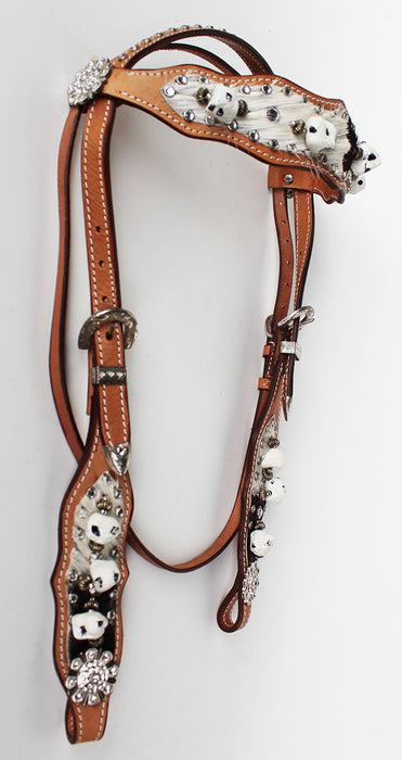 Show Tack Bridle Western Leather Rodeo Headstall  8550H
