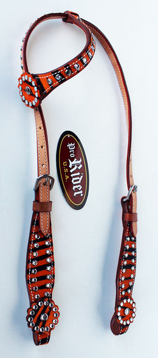 Horse Show Tack Bridle Western Leather Headstall  8902HA