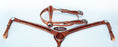 Horse Show Tack Bridle Western Leather Headstall Breast Collar Orange 8907