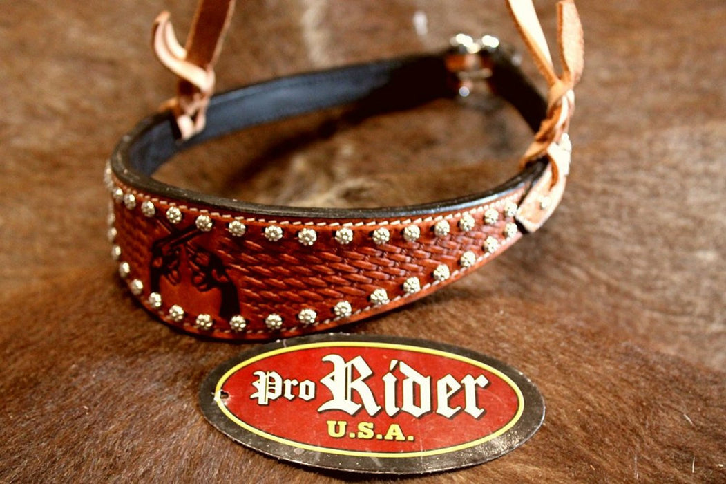 Horse Show Bridle Western Leather Barrel Racing Tack Rodeo Noseband  9905