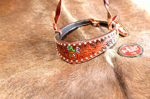 Horse Show Bridle Western Leather Barrel Racing Tack Rodeo Noseband  9913