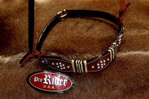 Horse Show Bridle Western Leather Barrel Racing Tack Rodeo NOSEBAND  99140