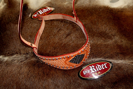 Horse Show Bridle Western Leather Barrel Racing Tack Rodeo NOSEBAND  99142