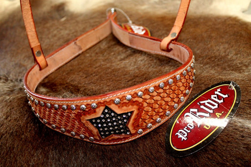 Horse Show Bridle Western Leather Barrel Racing Tack Rodeo NOSEBAND  99157