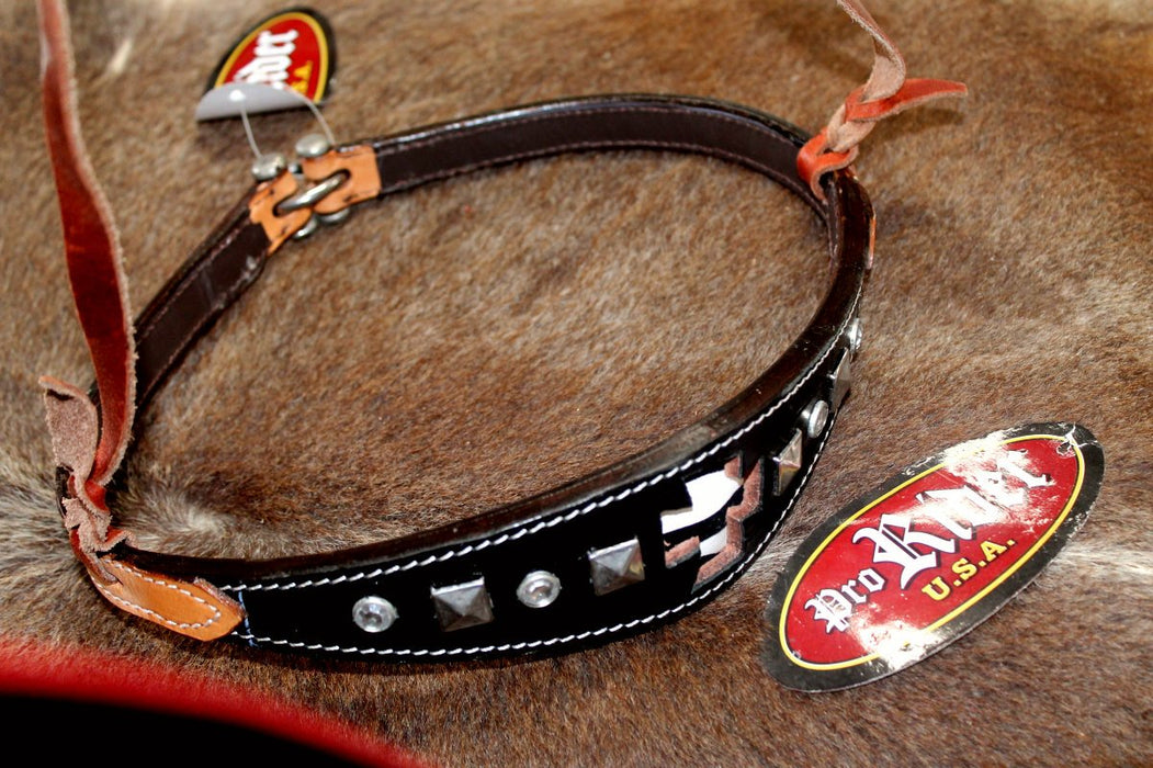 Horse Show Bridle Western Leather Barrel Racing Tack Rodeo NOSEBAND  99186
