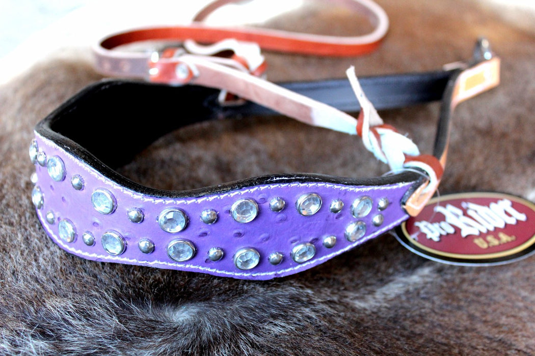 Horse Bridle Western Barrel Racing Tack Rodeo NOSEBAND Purple 99203