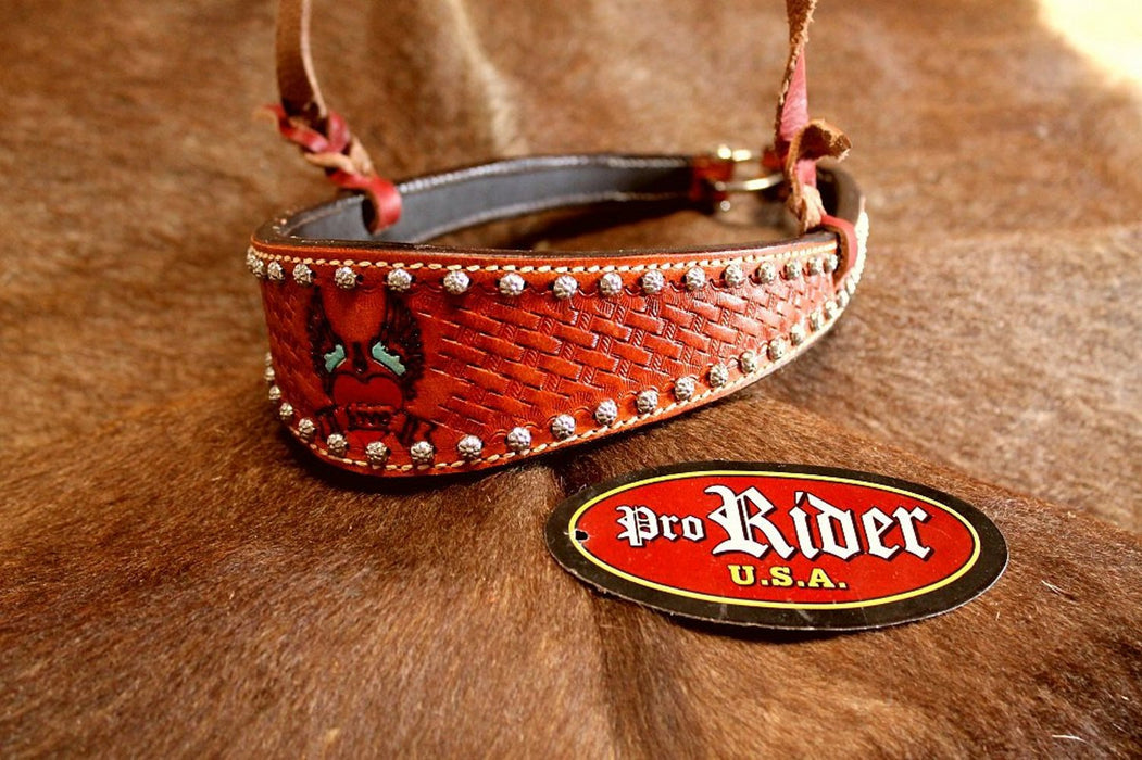 Horse Show Bridle Western Leather Barrel Racing Tack Rodeo Noseband  9923