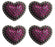 4 Western Conchos Rhinestone Horse Saddle Heart Bling Tack Pink Purple CO101