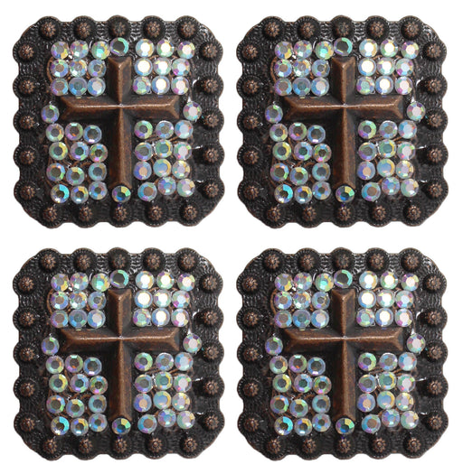 set of 4 Conchos Rhinestone Horse Saddle Western
