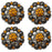 4 Conchos Rhinestone Horse Saddle Western  Orange Berry CO176