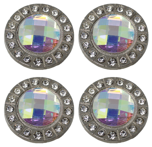 Set of 4 Conchos Western Saddle Tack Clear Co384