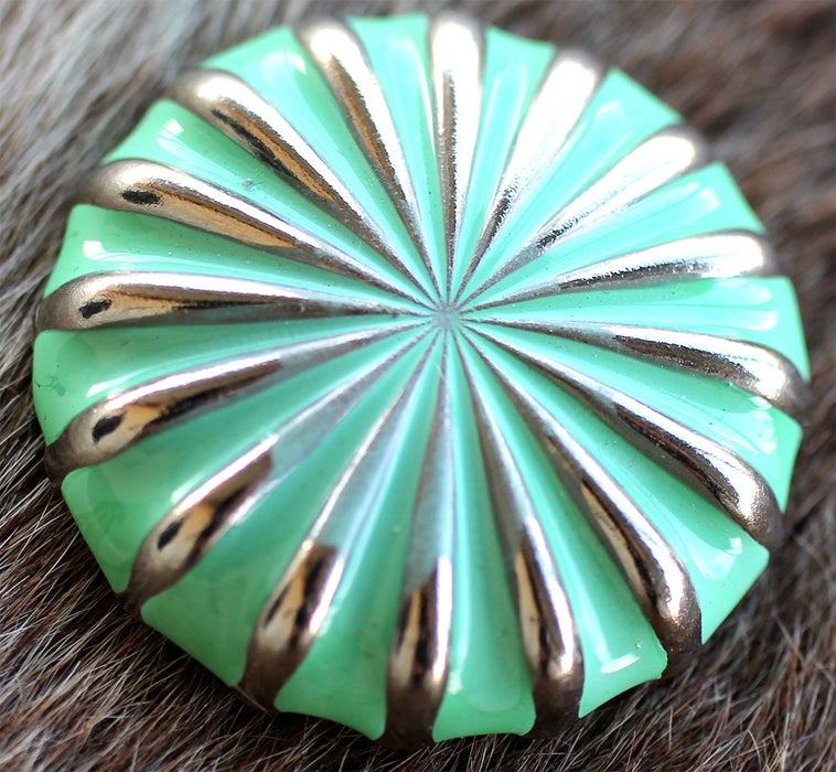 4 Conchos Horse Saddle Bridle Tack Western Green Fluted Rodeo CO413