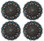 Set of 4 Conchos Western Saddle Tack Antique Silver Rhinestones Co539