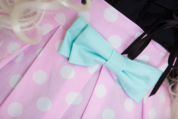 Miss Kittiness Pink and Teal LouLou Skirt