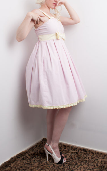 Miss Kittiness Baby Pink and Lemon Jumperskirt