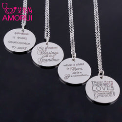 Engraved Grandmother Necklace