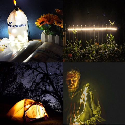 Outdoor LED Rope Lights and Lantern