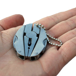 Folding Multi-tool Keychain - Pliers, Stainless Steel Foldaway Knife, Screwdriver, etc.