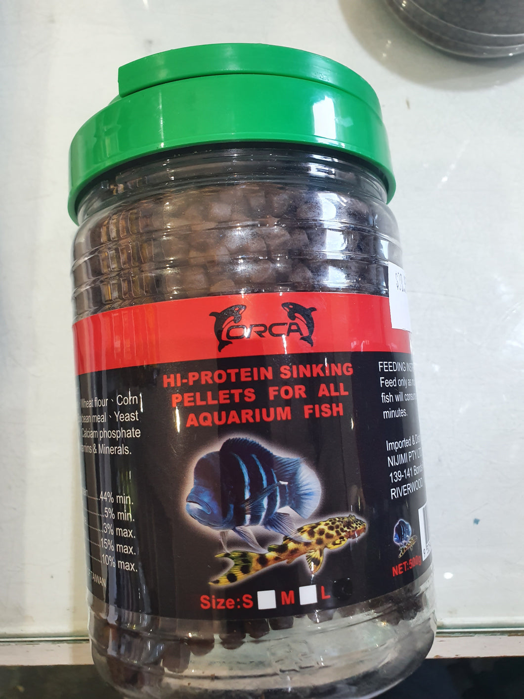 ORCA  Sinking Pellets for Large Fish 500g