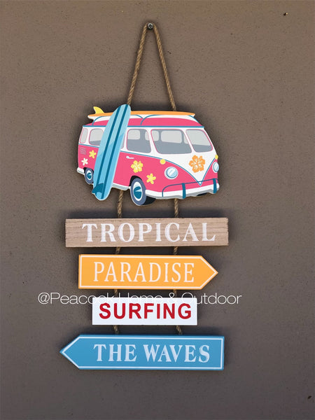 Hanging Beach Campervan Sign