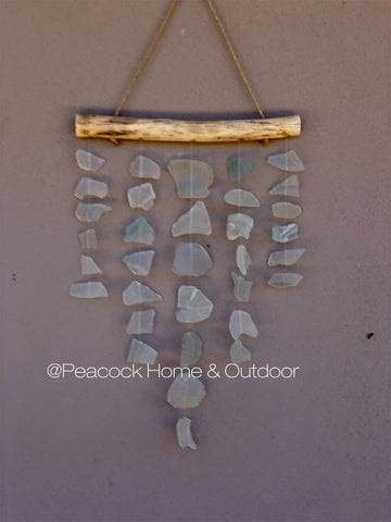 Glass Wind Chime - 5 strand - white