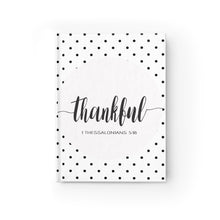 "Journal - Blank ""Thankful"" (Black and White Polka Dots)"