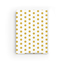 "Journal - Blank ""Give Thanks"" (Gold Polka Dots)"