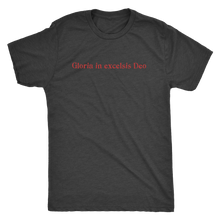 Gloria in Excelsis Deo (Men's Tri-blend Tshirt) in 4 colors