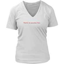 Gloria in Excelsis Deo (Women's V-neck) in 2 colors