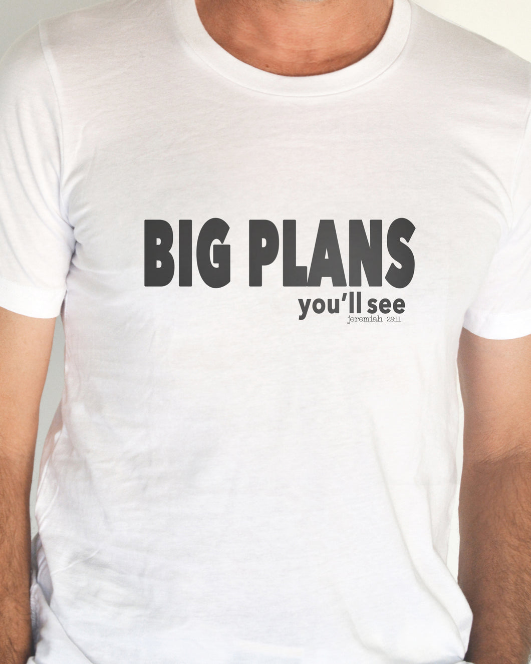 Big Plans (Unisex T-shirt with 2-sided design) in 6 colors