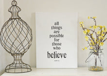 All Things Are Possible - Rectangle Canvas in 3 sizes